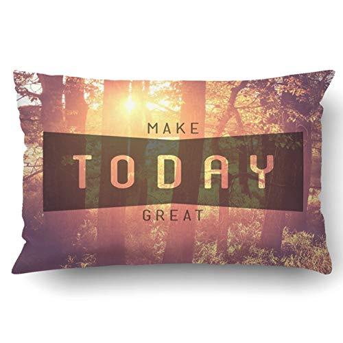 okstore1988 Funda de almohada decorativa para dormitorio, sofá, decoración del hogar, cita tipográfica inspiradora 'Make Today great Queen', 45,7 x 45,7 cm