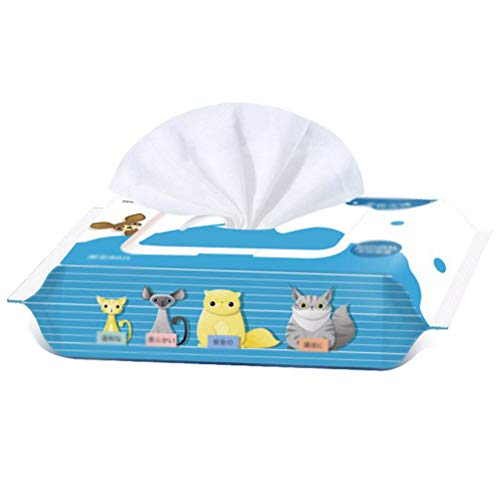 Toallitas húmedas POPETPOP para mascotas, perros, gatos, toallitas de cuidado desodorantes (1 paquete/80 unidades)