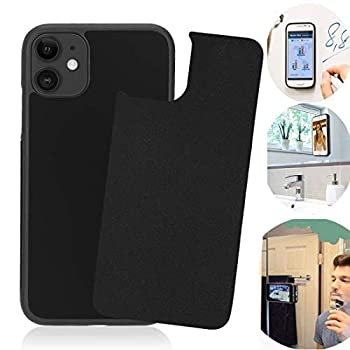 Anti Gravity iPhone 11 Case Sticky Selfie Suction Black Anti Gravity Case for iPhone 11 6.1 inch Magic Nano Stick on Smooth Flat Surface Gravity Case with Dust Proof Film
