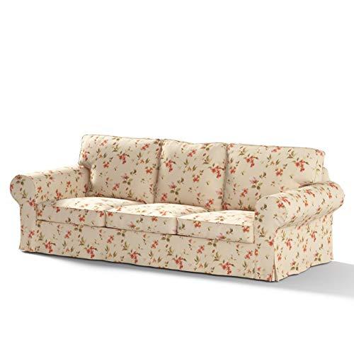 Dekoria Ektorp 3-Sitzer Sofabezug Nicht ausklappbar Sofahusse passend für IKEA Modell Ektorp beige