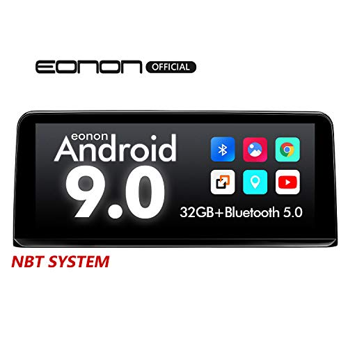 2020 Car Stereo Single Din Android 9.0 Car Radio, Eonon 10.25 Inch Car Stereo Support Apple Car Play/Android Auto/Bluetooth/WiFi/Fast Boot/Backup Camera Compatible with iDrive System -GA9303NB