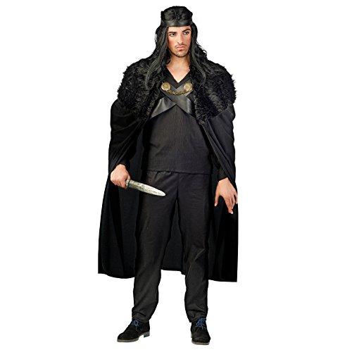La Noche Guerrero Disfraz hombre negro Medieval gewand 3piezas) negro L
