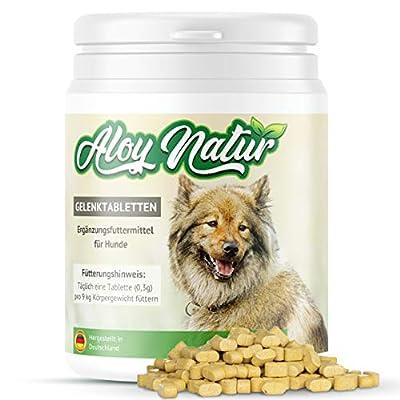 ALOY NATUR® Gelenktabletten für Hunde - 267 Tabletten (80g) - mit hohem Grünlippmuschel Anteil, Teufelskralle, MSM, Ingwer - stärkt die Gelenkfunktion - Futterergänzungsmittel für Ihren Hund
