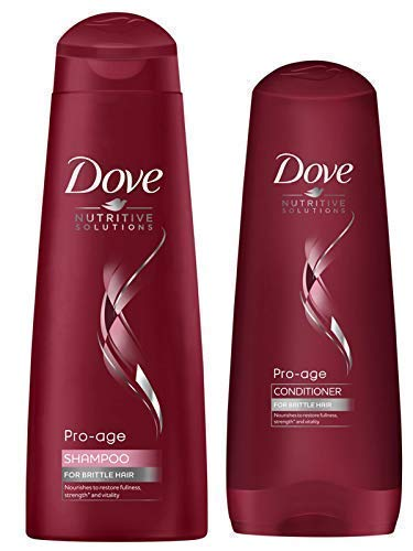 Dove pro Alter Shampoo 250ml + Haarspülung 20ml für Trockenes Brüchige Haare