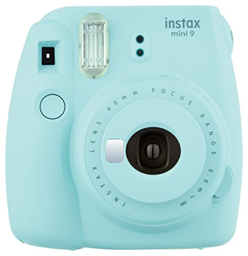 Fujifilm Instax Mini 9 Instant Camera - Ice Blue, 2.7x4.7x4.6 (Instax Mini 9 - Ice Blue)