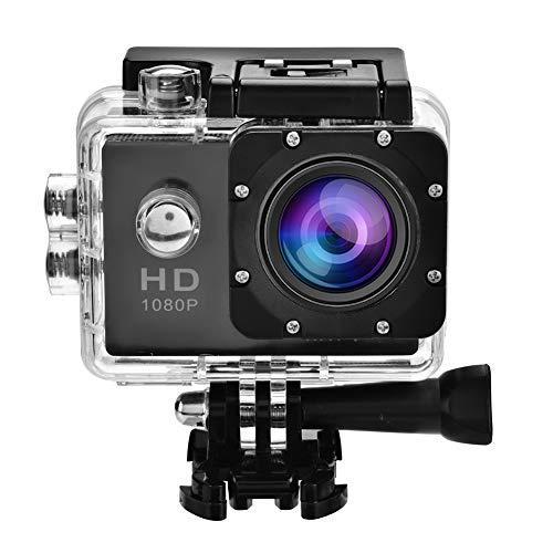 Garsent Action Camera 4K, HD 1080P WIFI Sport Action DV Impermeabile 30 M Subacquea, Telecamera con obiettivo grandangolare 140 ° con kit di accessori di montaggio per attività all aperto