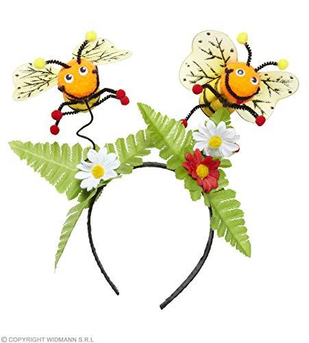 WIDMANN WDM9412B Haarreifen Biene mit Blumen, mehrfarbig, One Size