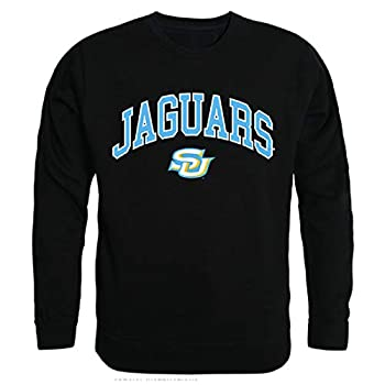SUBR Southern University Jaguars NCAA Men s Campus Crewneck Fleece Sweatshirt - Black Large