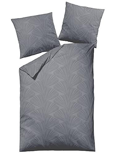 Schloß Holte Dormisette Damast Bettwäsche mit Reißverschluss Baumwolle (w Mako-Satin) 135x200 (1068)