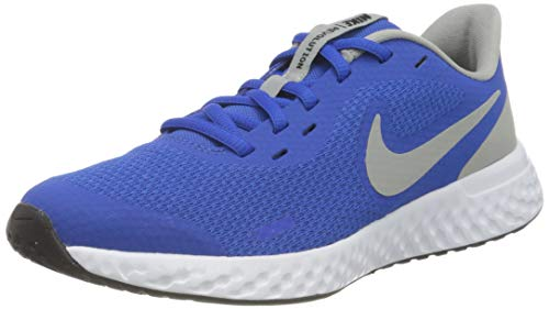 Nike Revolution 5 (GS), Zapatillas para Correr, Game Royal LT Smoke Grey White, 36 EU