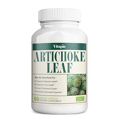Vitapia Artichoke Leaf 1000mg(10000mg) per Serving - 10:1 Extract - 60 Veggie Capsules - Vegan and Non-GMO - Supports Digestive Health and Liver Health, Healthy Metabolism, Antioxidant