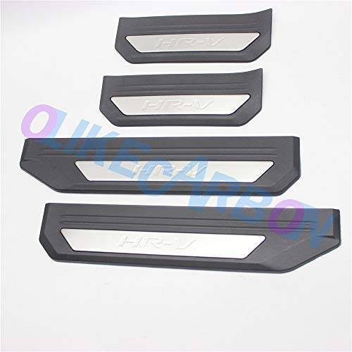 OLIKE For Honda HR-V HRV 2015 2016 2017 2018 Fashion Style Car Door Sill Scuff Plate Entry Guard Protector Trim
