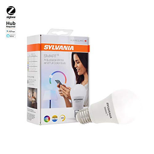 SYLVANIA SMART+ ZigBee Bulb, Color Changing, Works with SmartThings, Wink, and Amazon Echo Plus, Hub needed for Amazon Alexa and the Google Assistant