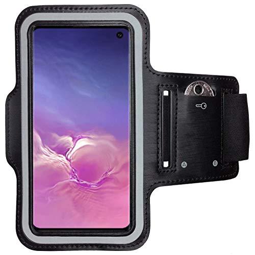 CoverKingz Armtasche für Samsung Galaxy S10 Sportarmband mit Schlüsselfach, Laufarmband, Sport Handyhülle, Handy Armband Schwarz