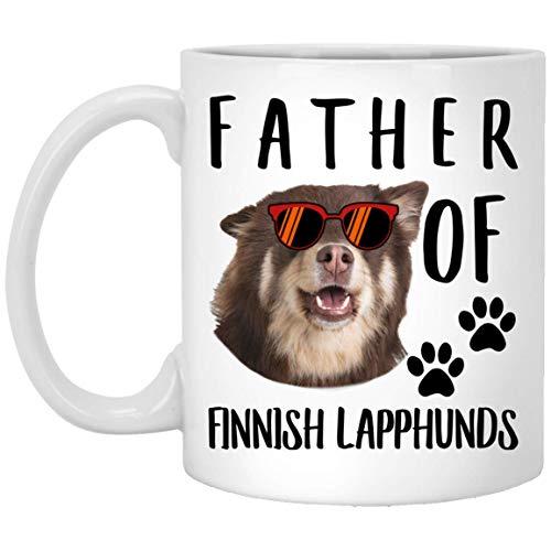 N\A Funny Father of A Finnish Lapphund Brown Sunset Retro Taza de café Blanca, 11 oz