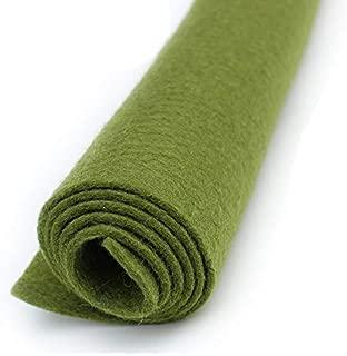 Moss Green - Wool Felt Oversized Sheet - 35% Wool Blend - 1 12x18 inch sheet