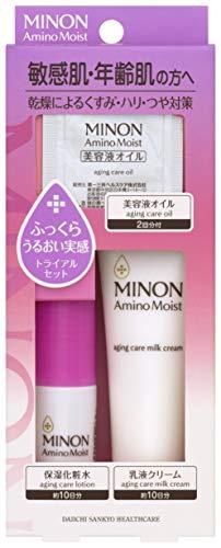 MINON(ミノン) ミノン アミノモイスト エイジングケアライン トライアルセット 化粧水 ローション20mL/ミルククリーム20g/美容液オイル0.5mL×2包