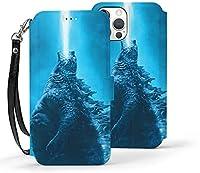 ゴジラ Godzilla IPhone12 miniケース 手帳型スマホケース 高級PUレザー 電話ケース 軽量 薄型 スタンド機能ワイヤレス充電対応ケース 財布型携帯電話ケース 耐衝撃全面保護カバー Iphone12 miniケース 5.4インチ