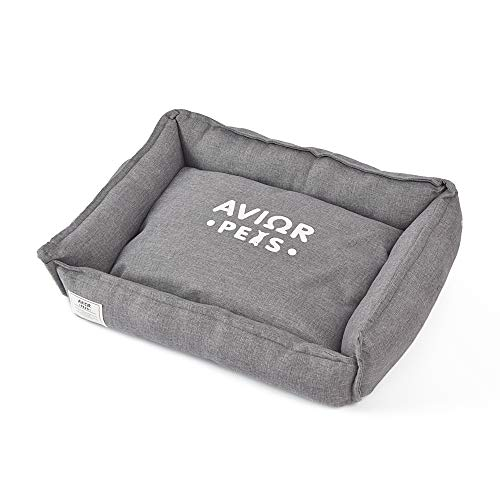 Avior Pets Hundebett Hundekissen Katzenbett mit abnehmbarem Bezug und wendbarem Kissen