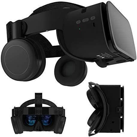 3D Virtual Reality Headset 3D VR Glasses Viewer w Bluetooth Headphones for iOS iPhone 12 11 product image