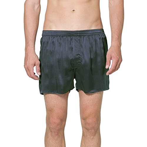 Intimo Men's Classic Silk Boxers, Forest, X-Large