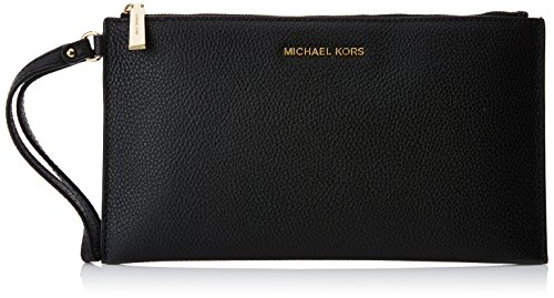 MICHAEL Michael Kors Women's Mercer Leather Clutch Bag One Size Black