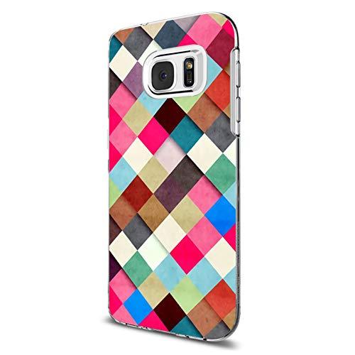 Carcasa Samsung Galaxy S6 / S6 Edge Funda Transparente Suave Silicona TPU Estuche Flor Hoja Paisaje Patrón Case Ultra Delgado Anti Choque Proteccion Caja para Galaxy S6 Edge (Galaxy S6 Edge, 5)