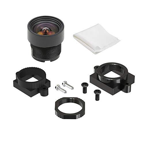 Arducam Geringe Verzerrung Weitwinkel M12 Objektiv, 1/4 Zoll 2,1 mm Brennweite, Objektiv mit Objektivhalter für Arduino und Raspberry Pi Kamera, CCTV Sicherheitskamera