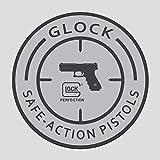 Safe Action Pistol Decal Sticker Vinyl | Gun Decal Sticker | Premium Quality | 4' X 4'