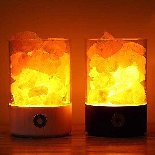 YOBENS NBM USB Real Zout Crystal Rock Lamp Goed voor de gezondheid Kleine Minerale Negatieve Ionische Steen Lava Zout Nachtlampje voor Slaapkamer