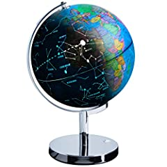 3-IN-1 WORLD GLOBE FOR KIDS: Interactive STEM toy features detailed earth globe geography, LED globe constellations, and a plug-in nightlight; valuable indoor learning toy with easy-to-read texts EDUCATIONAL LIGHT UP GLOBE: Bonus interactive globe ap...