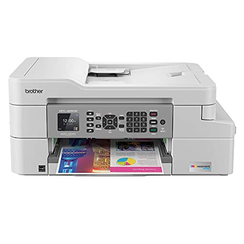 Brother MFC-J805 INKvestment Tank All-in-One Wireless Color Inkjet Printer for Home Office - Print Copy Scan Fax - 12 ppm, 6000 x 1200 dpi, Auto Duplex,up to 1-Year of Ink in-Box