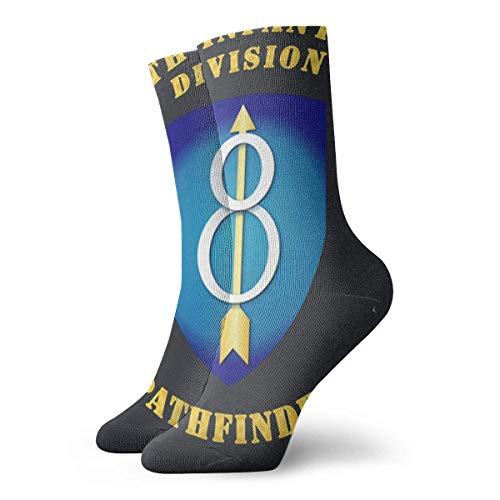 FJXXM Calcetines De Algodón,8Vo Equipo De Infantería Ssi Calcetines Calcetines Decorativos De Moda Para Viajes De Escalada,30cm