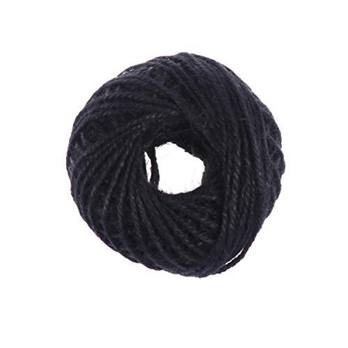 Healifty 1 Rollo de Cable de Yute de Color Cuerda de Yute Trenzada de Yute para Obras de...