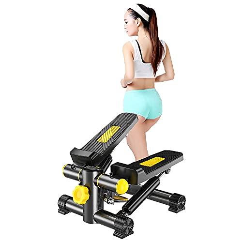 Stepper Fitness casa, Stepper Cardio up-Down Fitness Mini Stepper Fitness Display Multifuncional, Hometrainer Stepper con Resistencia Ajustable y Pantalla Multifuncional