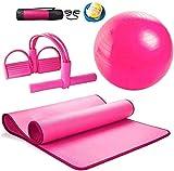 Fitness bola Explosión engrosada Yoga prueba Ball-Yoga Mat Set ribete Principiante antideslizante estera de aptitud tres piezas Suministros de Yoga for el Parto de la bola de la yoga, Pilates, Fitness