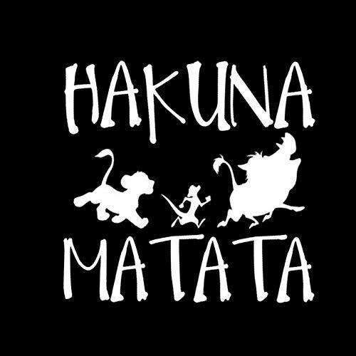 XuBa 13,8 cm * 13,3 cm Hakuna Matata König der Löwen Simba Auto Styling Vinyl Auto Aufkleber