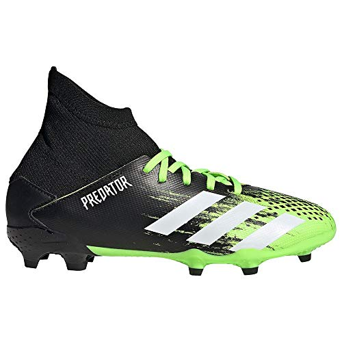 adidas Predator 20.3 FG J, Zapatillas de ftbol, Signal Green FTWR White Core Black, 38 2/3 EU