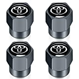 car wheel tire valve cap stem cover (4 piece set) is suitable for Toyota hatchback, Avalon, Camry, Prius, Avalon Corolla RAV4 Highlander logo decoration accessories.