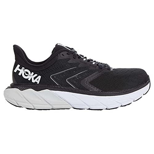 HOKA ONE ONE Womens Arahi 5 Textile Synthetic Black White Trainers 6 US