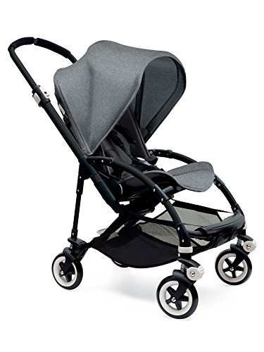 Buy Discount Bugaboo Bee3 Complete with Black Base and Grey Melange Seat