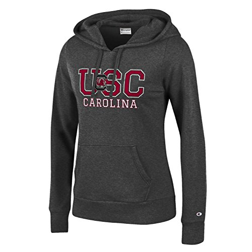 CHAMPION NCAA Women's Comfy Fitted University Fleece Hoodie South Carolina Fighting Gamecocks, X-Small, Gray