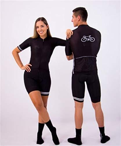 ZNQPLF Ciclismo Ropa Traje 9D Gel Cojín Ciclismo Mujer Triatlón Ciclismo Jersey Vestido Traje de Manga Corta Concurso 145 (Color : 7, Size : Large)