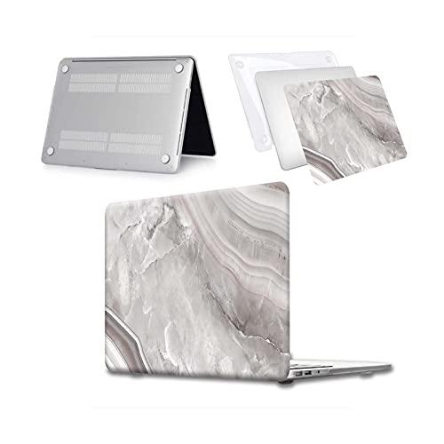 Funda rígida para portátil MacBook Air 13 A2337 A2179 2020 A2338 M1 Chip Pro 13 15 A2289 Nueva Touch Bar para Mac Book Pro 16 Case-bardiglio Gray Marbl-Pro 13 A1706 A1989