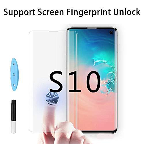 PANGLDT [3 tabletten 3D UV Nano Liquid screen protector voor Samsung Galaxy S10 Plus Note10 5G A50 gepantserd glas met lijm zonder blokkering, per S9