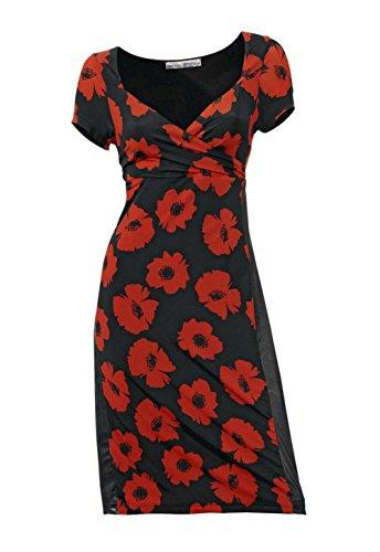 Ashley Brooke Designer-Kleid schwarz-rot Größe 38