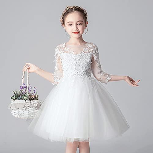 XIAOQIAO Vestidos De Niñas, Vestidos De Princesa, Vestidos De Niña De Flores De Boda, Faldas Blancas Mullidas, Disfraces De Performance, Vestidos De Fiesta De Cumpleaños