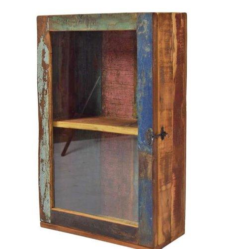Freudenhaus Hängeschrank Medizinschrank 60 x 40 recyceltes Holz Badschrank Küchenschrank Gewürzschrank Vitrine