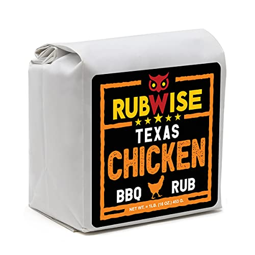 Texas Style Chicken BBQ Rub by RubWise   Great for Chicken, Turkey, Duck, and Seafood   Meat Seasoning and Dry Rub   1lb (No MSG)