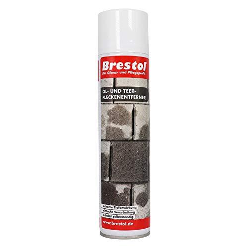 Brestol Öl- & Teerfleckenentferner 400 ml Sprühdose - Ölfleckenentferner für Pflastersteine Parkplatzreiniger Werkstattboden-Reiniger